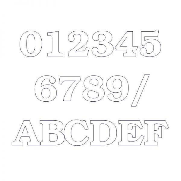 súpisné číslo na dom ITC Bookman demi