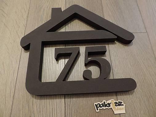 súpisné číslo na dom v tvare domčeka - 2 číslice