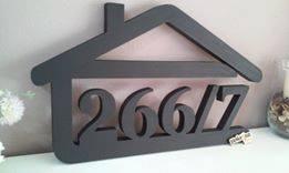 súpisné číslo na dom v tvare domčeka - 5 číslic - farba antracit