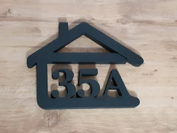 súpisné číslo na dom v tvare domčeka - 3 číslice - antracit