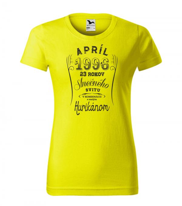 apríl niekoľko rokov slnečného svitu s malým hurikánom citrónová 96