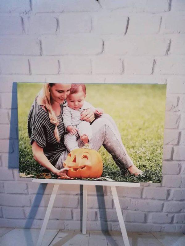 fotka na plátne mama a dieťa haloween