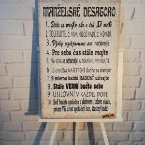 fotka na plátne manželské desatoro