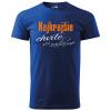 pánske tričko - najkrajšie chvíle sú zadarmo kráľovská modrá 05