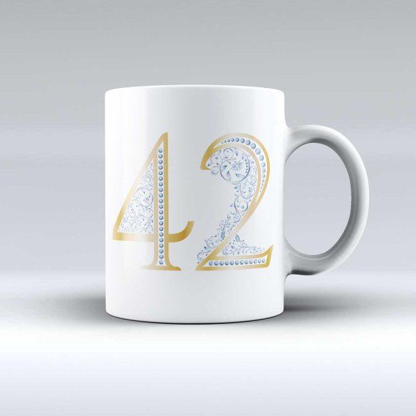 luxury šálka s číslom 42