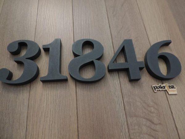 súpisné číslo na dom Georgoa Bold, farba antracit