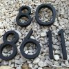 súpisné číslo na dom horatio D, farba čierna