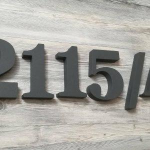súpisné číslo na dom ITC Bookman demi, farba antracit