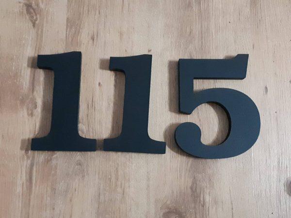 súpisné číslo na dom ITC Bookman demi, farba sivá tmavá