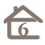 súpisné číslo na dom v tvare domčeka - 1 číslica