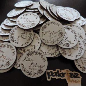 Drevené svadobné magnetky typ 8