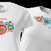 tričko folklór farebné kvety, pre pár