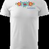 tričko folklór farebné kvety, pánske tričko