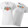 tričko folklór farebné kvety, pre nevestu a ženícha
