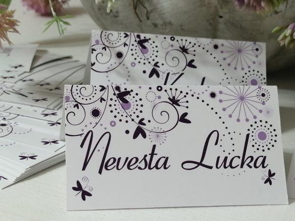 Menovky na savadobný stôl 0002 Nevesta Lucka