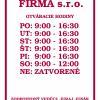 Otváracie hodiny, farba fuxia, typ 004