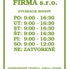 Otváracie hodiny, farba zelená, typ 004