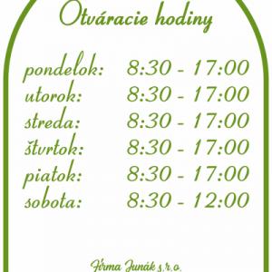 Otváracie hodiny, farba zelená, typ 008