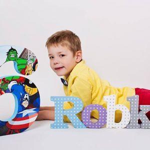 detské meno na stenu, vzor Robko, RD fotoalbum ROBKO