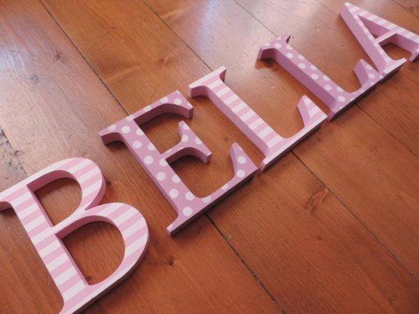detské meno na stenu, vzor bella