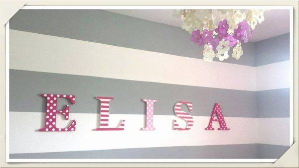 detské meno na stenu, vzor ELISA