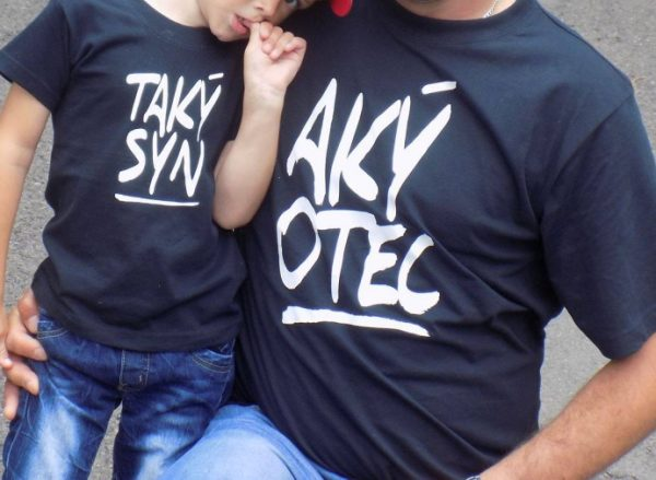 rodinné tričká aký otec taký syn