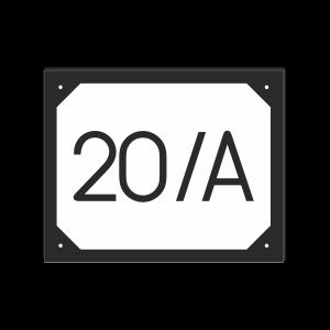 POPISNÉ ČÍSLO DOMU na tabuľke 20X25cm čierno bielo čierna