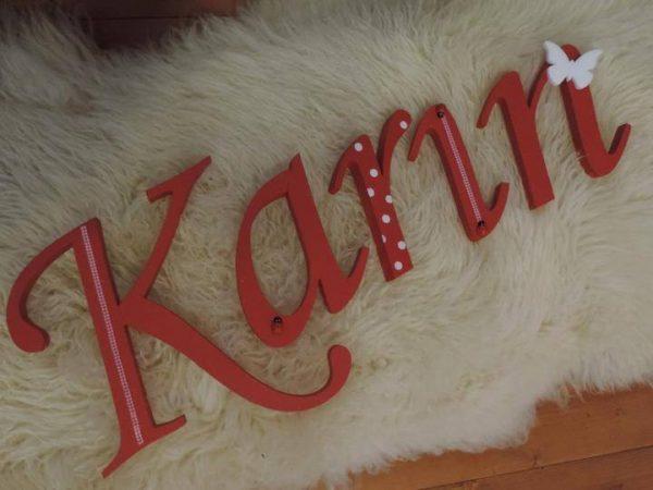 detské meno na stenu, vzor Karin