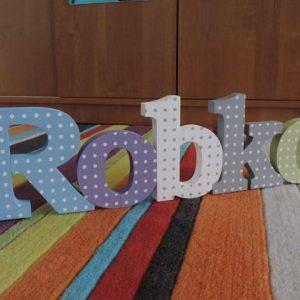 detské meno na stenu, vzor Robko Robko