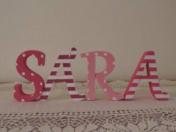 detské meno na stenu, vzor SÁRA