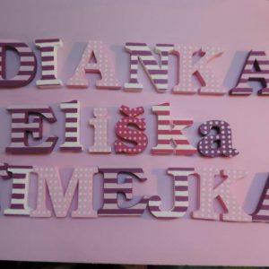 detské meno na stenu, vzor Dianka, Eliška