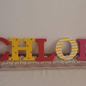 detské meno na stenu, vzor CHLOE