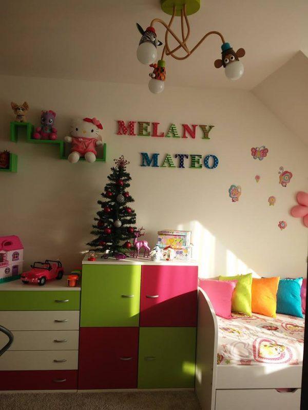 detské meno na stenu, vzor MEELANY a vzor MATEO