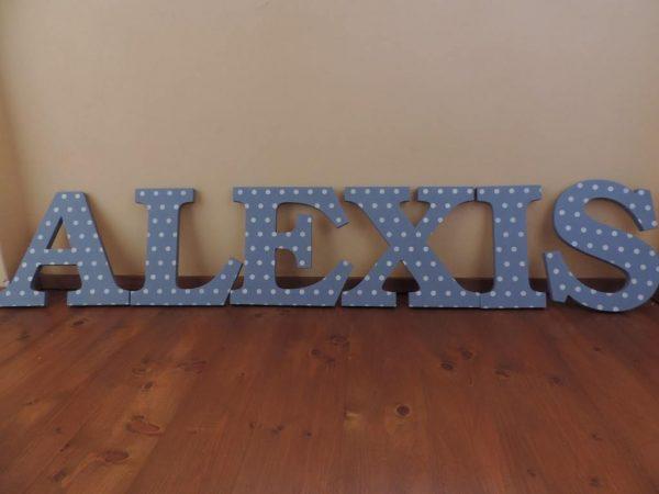 detské meno na stenu, vzor Alexis