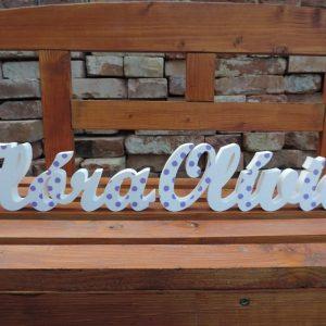 detské meno na stenu, vzor Klára a vzor Olívia