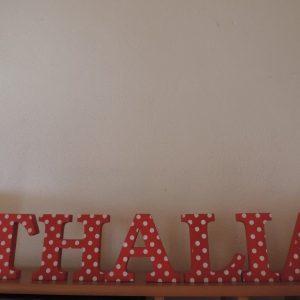 detské meno na stenu, vzor THALIA