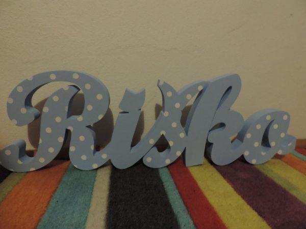 detské meno na stenu, vzor Riško