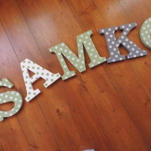 detské meno na stenu, vzor SAMKO