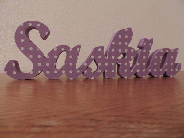 detské meno na stenu, vzor Saskia