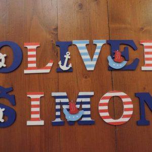 detské meno na stenu, vzor Oliver, ŠIMON