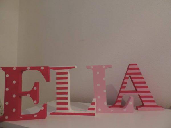 detské meno na stenu, vzor ELLA