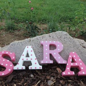 detské meno na stenu, vzor SARA