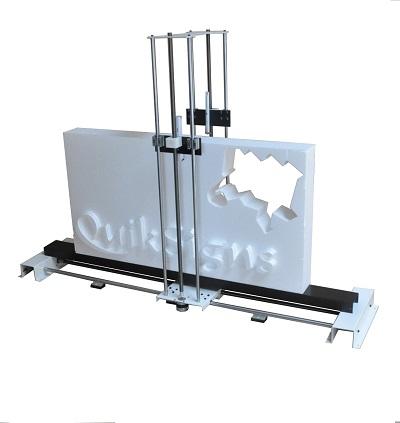 cnc rezanie polystyrenu a 3D písmo