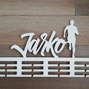 Držiak na medaile bežec typ2 biely Jarko