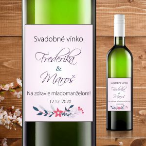 Etikety na fľaše motív bledo fialové
