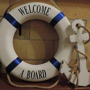 námornícke koleso biele