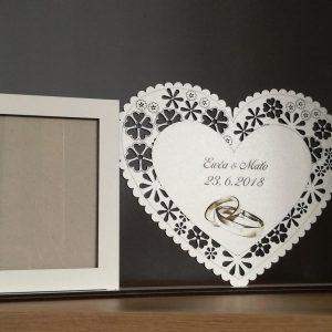 Rám na svadobnu fotku - srdce excluzív