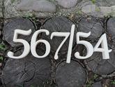 Súpisné a orientačné číslo na dom gold floral biela