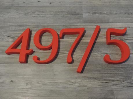 Súpisné a orientačné číslo na dom gold floral čevená