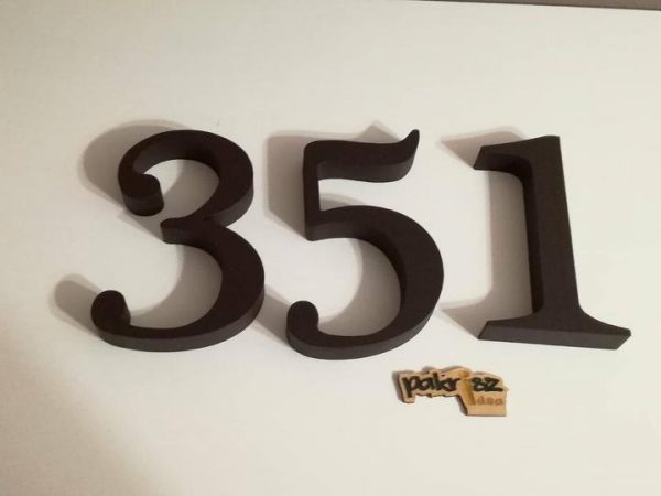 Súpisné a orientačné číslo na dom gold hnedá čokoládová